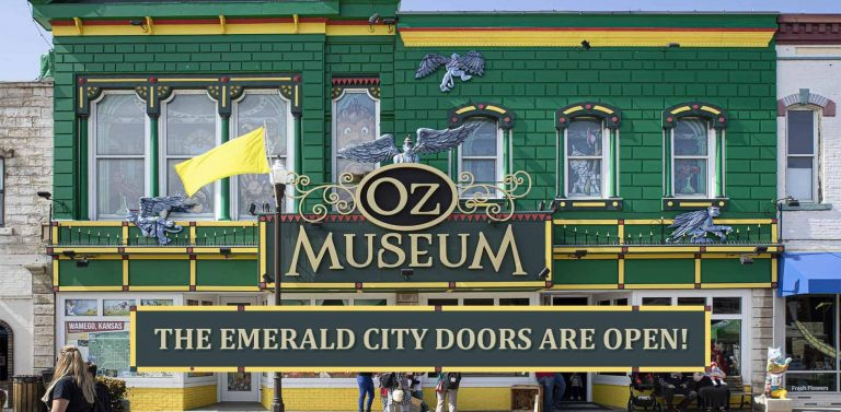 The front of the OZ Museum in Wamego, KS