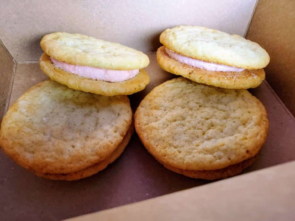 Strawberry Champagne Sugar cookies at Bourbon and Baker