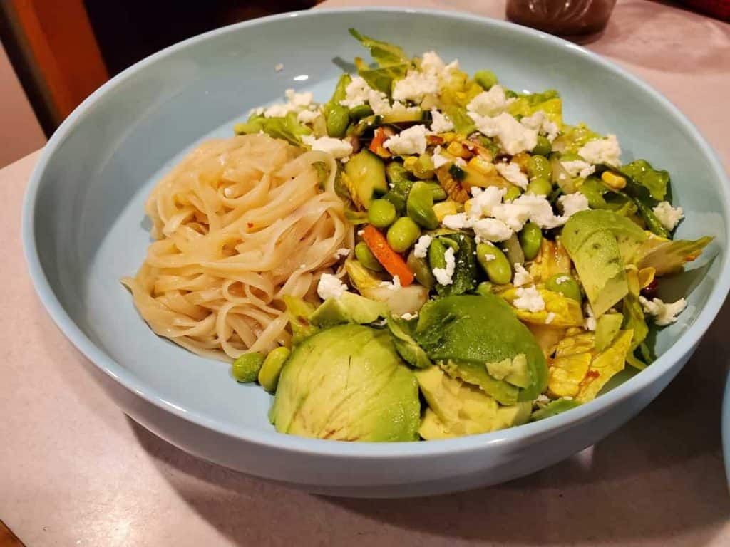 Salad with Brown Rice Noodles