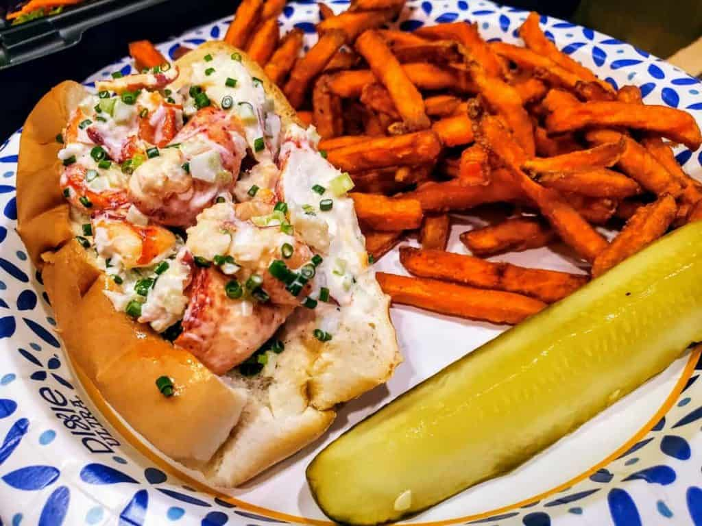 Lobster Roll and Sweet Potato fries!