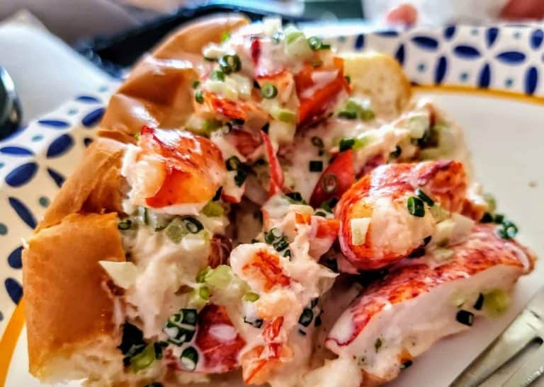 Delicious Lobster Roll at Little Apple Brewing Company.