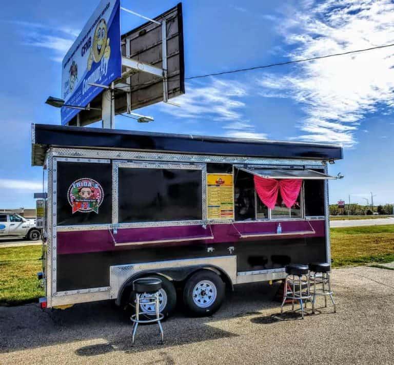Frida's Mexican Food Truck located off 3rd street in Manhattan, KS