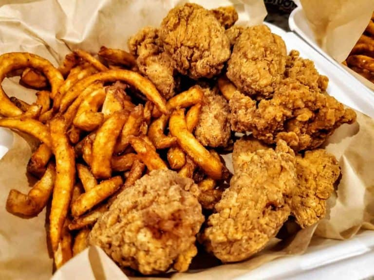 Boneless wing meal from It's Just Wings