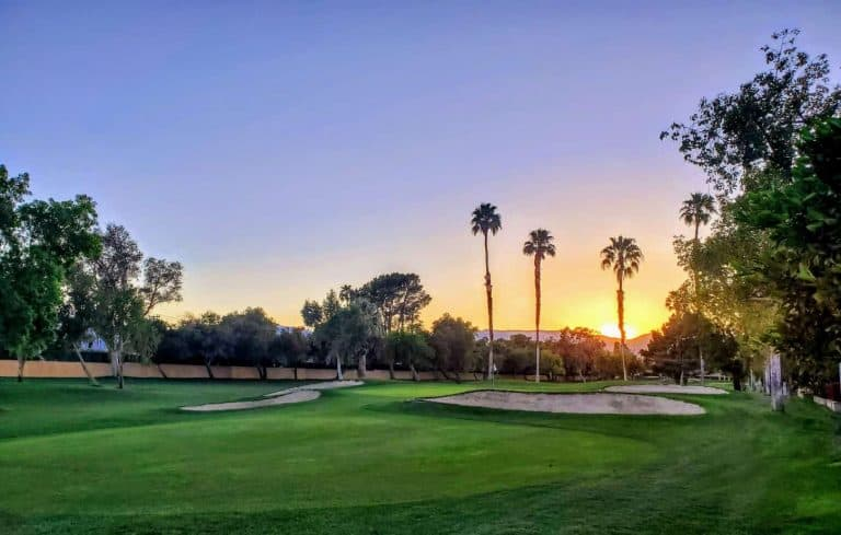 Views of the sunset in Palm Desert