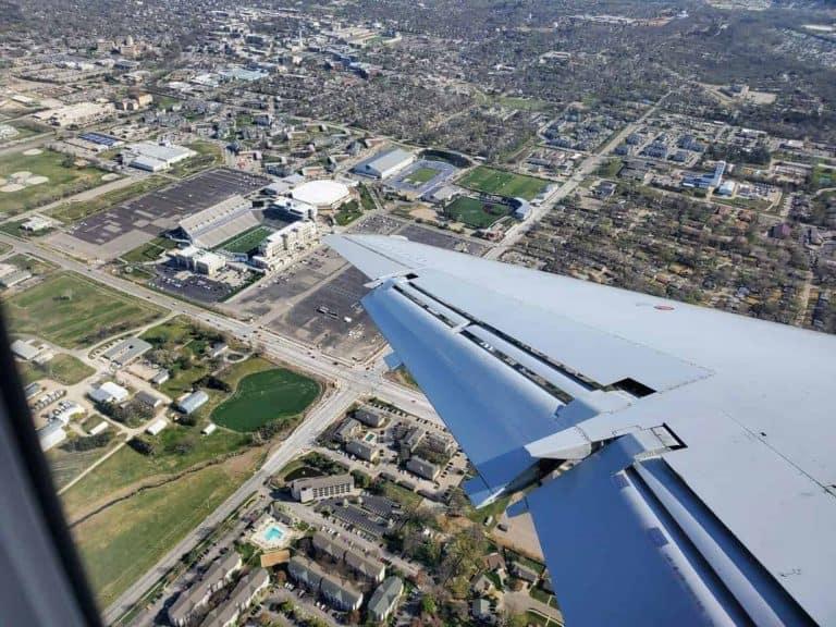 Bill Snyder Family Stadium flying into Manhattan, KS