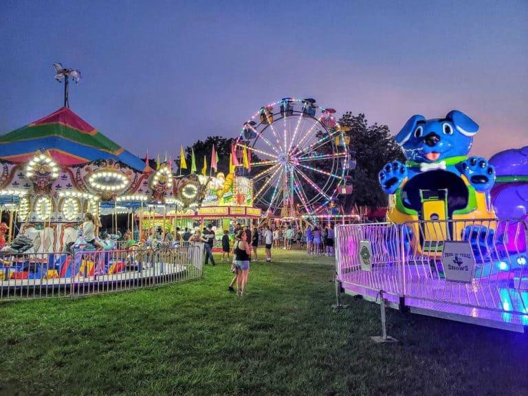 Carnival Rides at the Riley County Fair