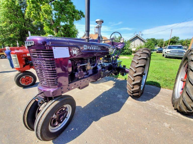 Antique tractor at Leonardville Hullabaloo