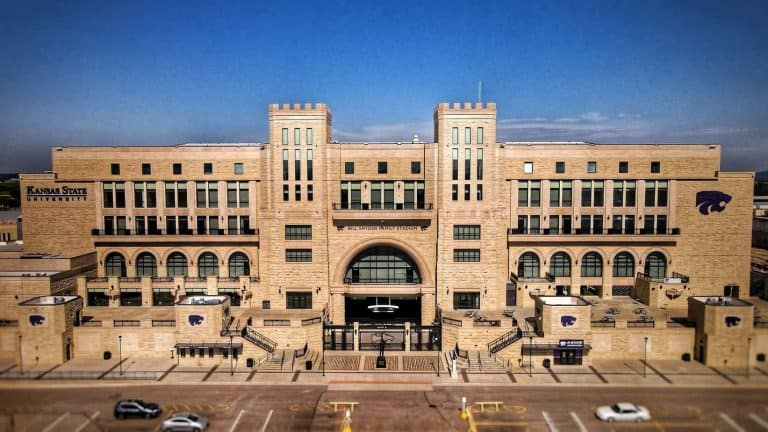 Drone image of Bill Snyder Family Stadium